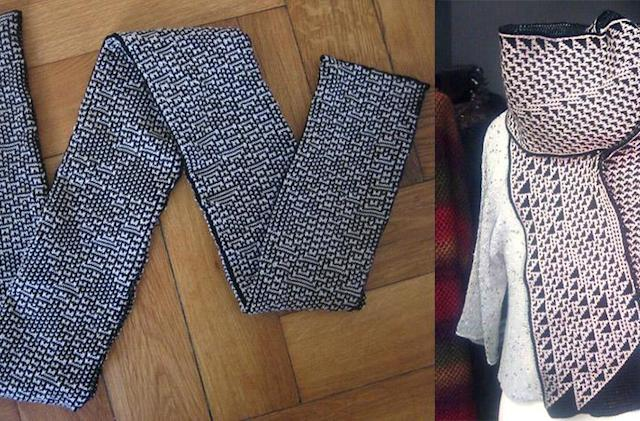 Designer uses algorithms to create unique knit scarves