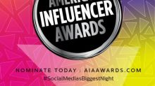 The American Influencer Awards Opens Nominations for the Fourth Awards Show and Adds New Categories