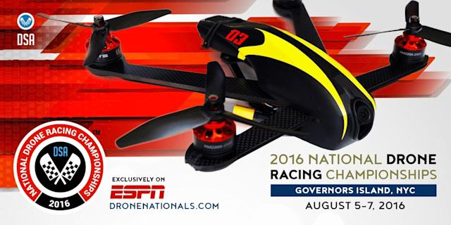 ESPN streams its first drone racing event at 1PM ET