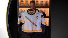 Mario Lemieux Models Pittsburgh Penguins' New Reverse Retro Jersey