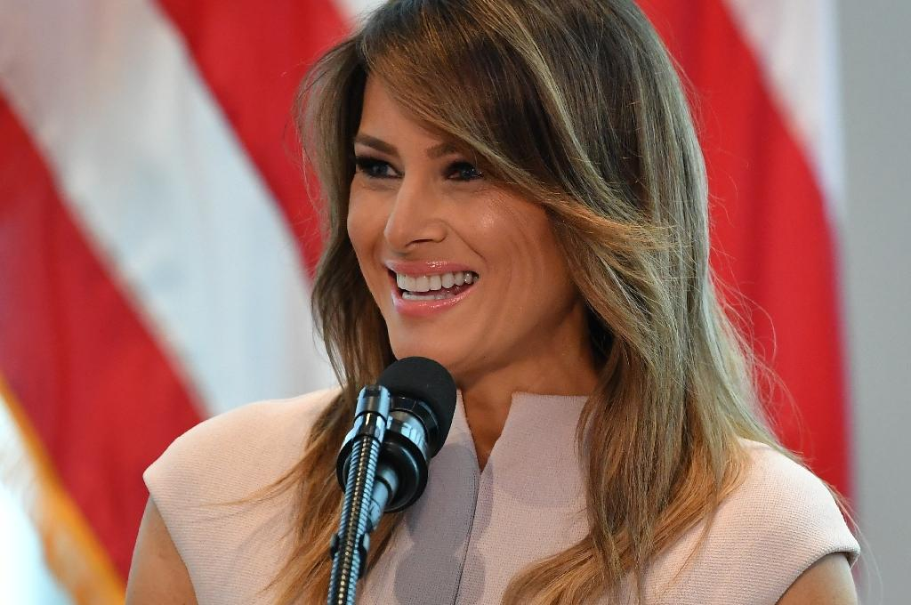 Melania Trump, who hosted the spouses of foreign leaders during the UN General Assembly, is making her first big solo international trip -- to Ghana, Malawi, Kenya and Egypt (AFP Photo/MANDEL NGAN)