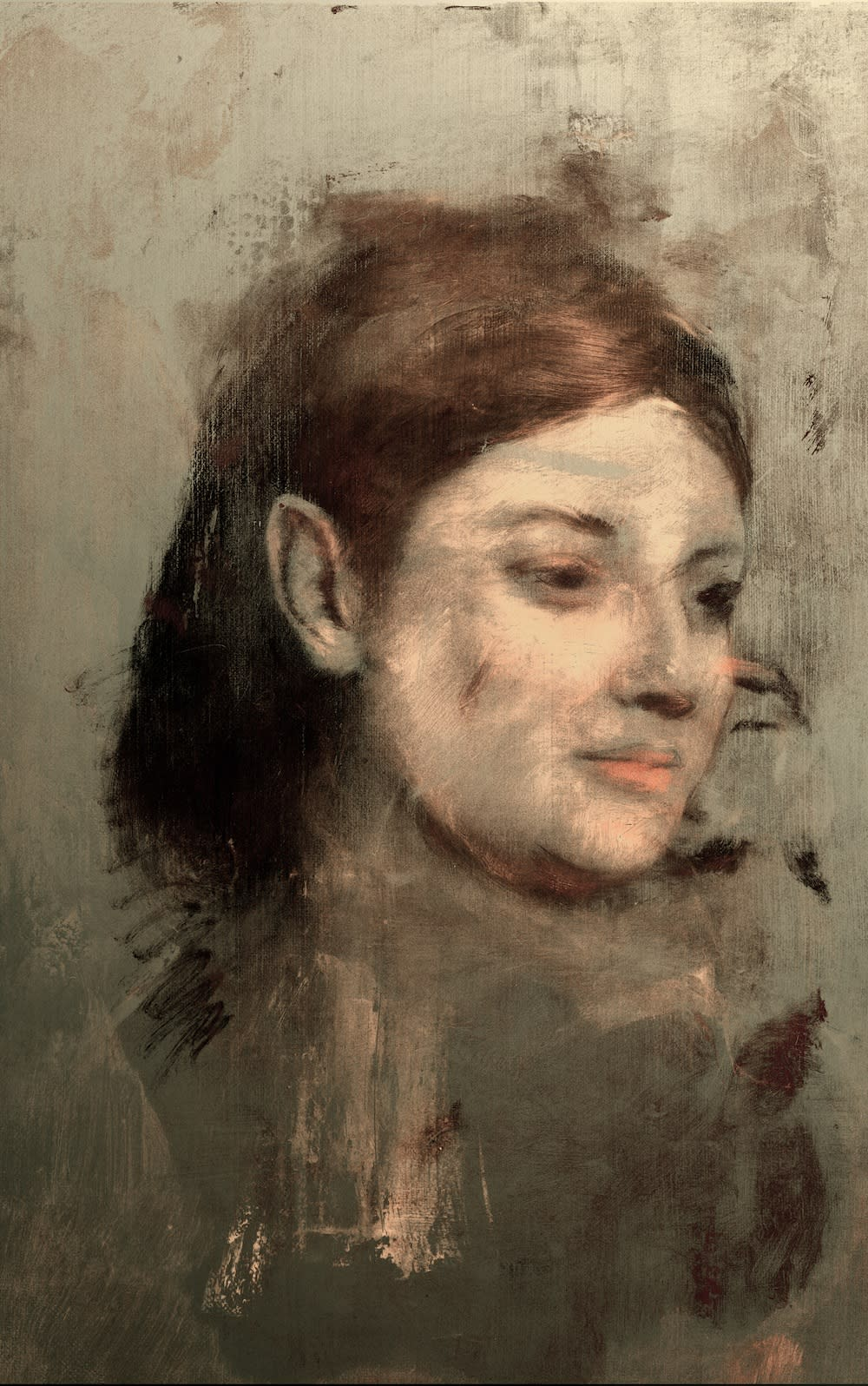"The ""hidden portrait"" of Emma Dobigny by the painter Edgar Degas, revealed by advanced X-ray flourescence and image processing techniques by researchers in Australia."