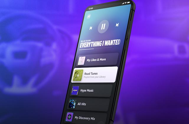 Amazon Music for iOS and Android has a simplified Car Mode