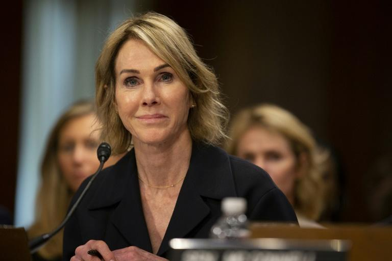 Kelly Craft, at her Senate confirmation hearing June 19, 2019, has taken up her post as the new US ambassador to the United Nations