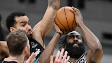 James Harden records latest triple-double as Nets down Spurs