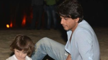 """""""The sand castle we made will last a life time"""": SRK gets poetic about AbRam"""