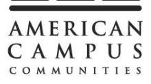 American Campus Communities Announces Quarterly Dividend