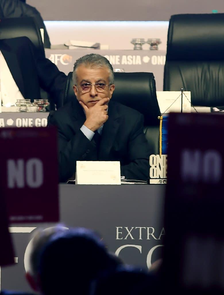 "AFC president Sheikh Salman bin Ibrahim Al Khalifa said it was ""probably the shortest congress"" he had ever chaired (AFP Photo/Indranil Mukherjee)"