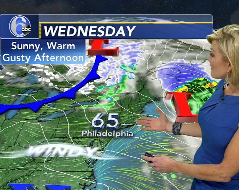 AccuWeather: Coastal Storm Passes Safely Offshore Tonight, A Windy Wednesday