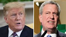 'He is a JOKE': Trump blasts Bill de Blasio's 2020 bid
