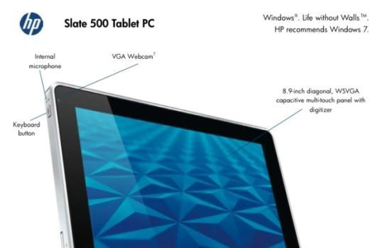 HP Slate 500 unicorns its way into e-tailers with product code, leaked documents