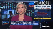 AIG sees almost $3.1 billion in Q3 pretax catastrophe los...