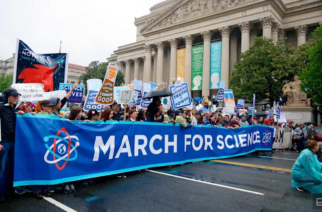 Thousands descended on DC to march for truth and science
