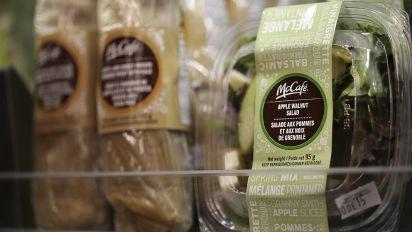 Tainted McDonald's salads leave 163 people ill