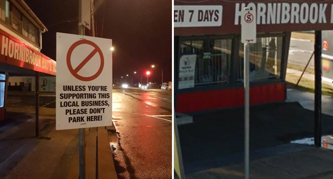 'You don't own the street': Furious debate over parking sign outside shop
