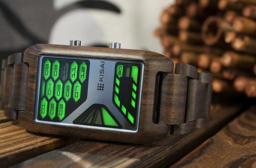 Tokyoflash Kisai Console gets a wooden makeover, retains futuristic watchface (video)