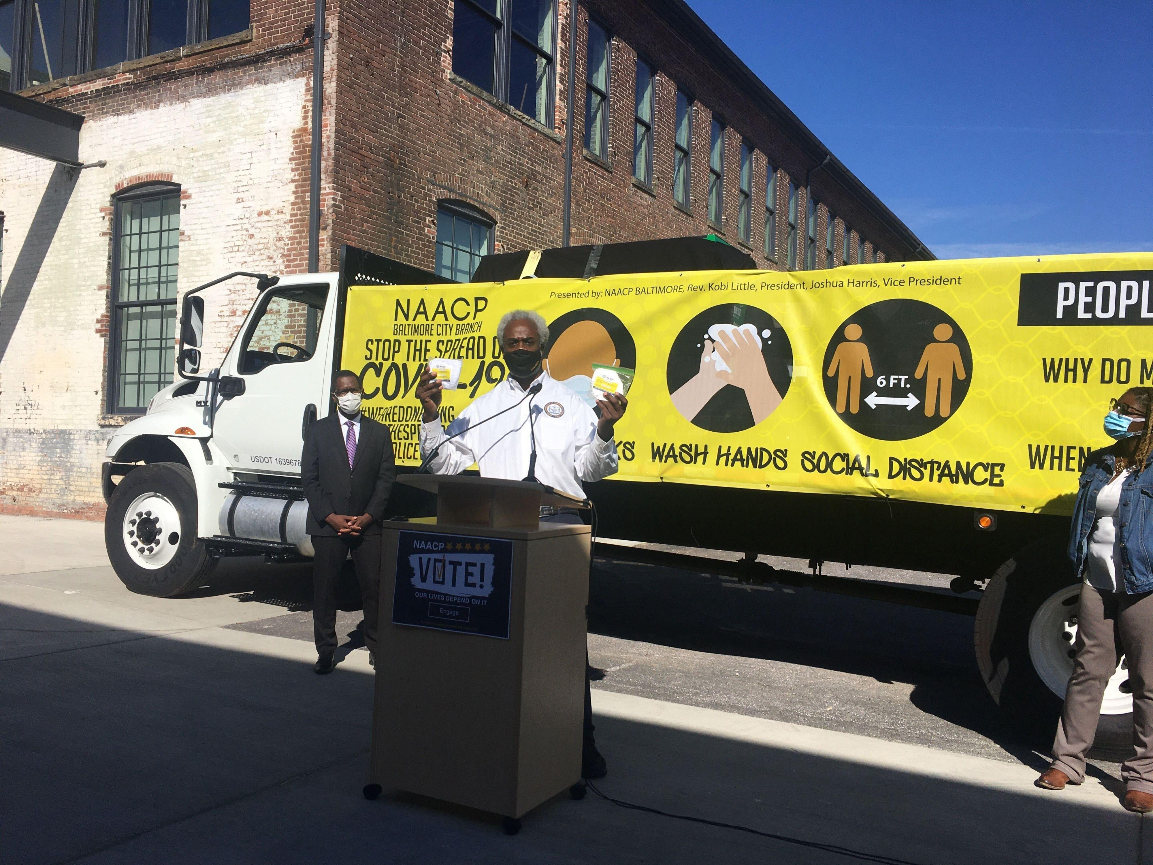 Baltimore NAACP to distribute 10,000 free masks to help at-risk communities fight COVID-19