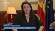 Irene Montero se presenta así a la entrevista de TVE y se convierte en 'trending topic'
