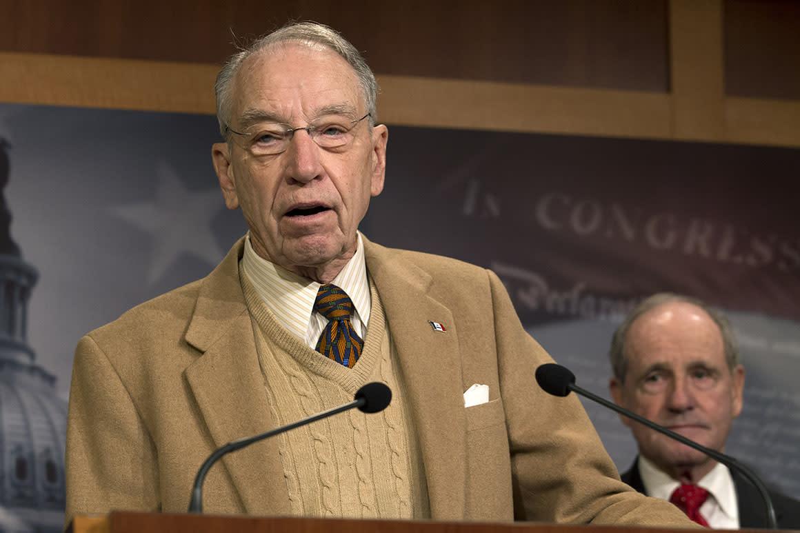 Grassley pins blame for USMCA holdup on impeachment
