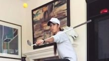Golfer's Club-Flipping 'Beer Pong' Shot Will Blow Your Mind