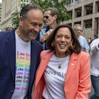 Kamala Harris becomes 1st sitting vice president to march in Pride parade