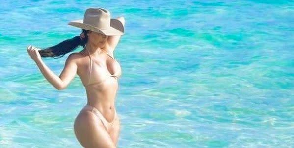People are making the same joke on Kim Kardashian's bikini picture