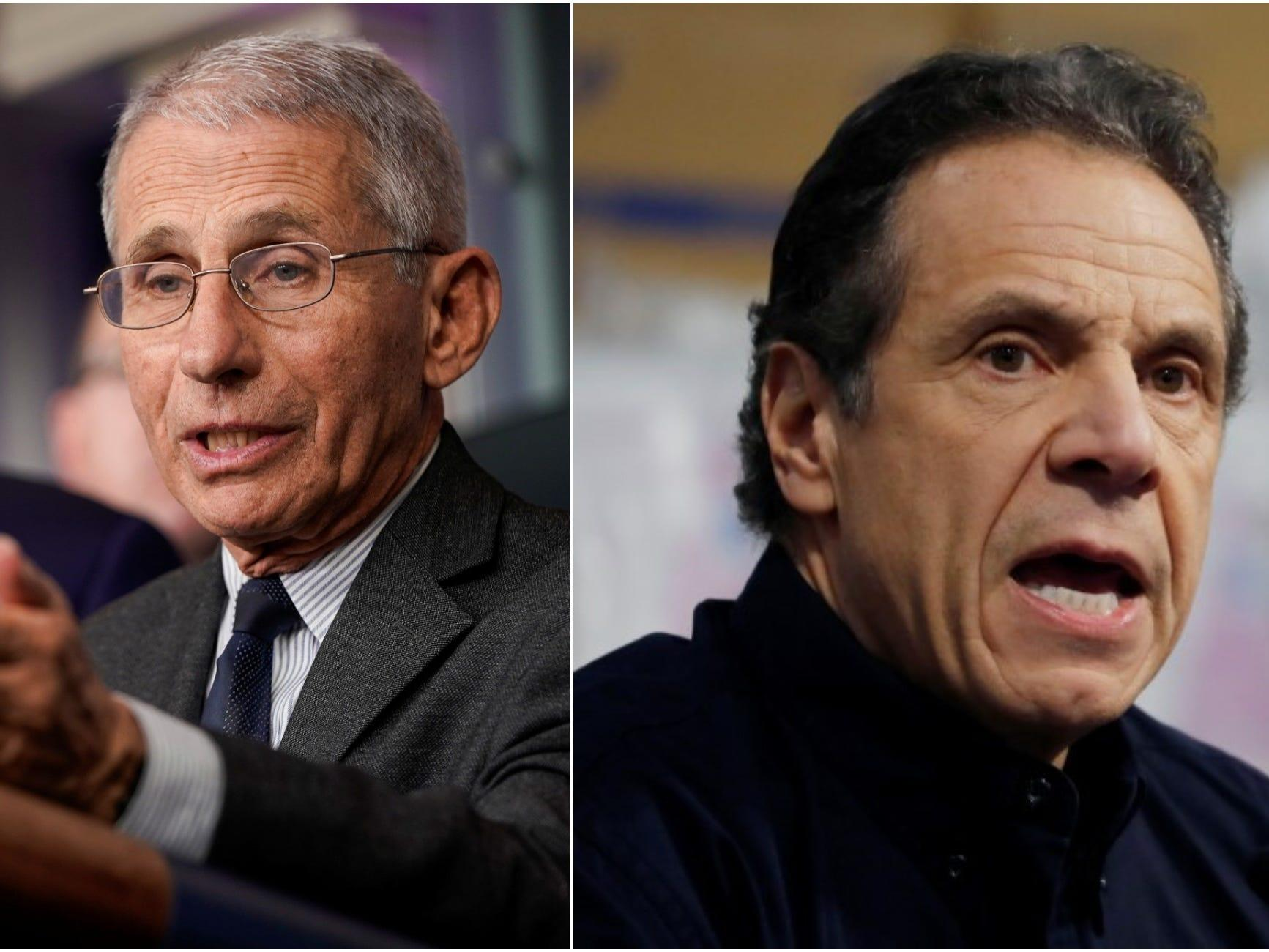 Dr. Anthony Fauci and Gov. Andrew Cuomo are the most trusted leaders in America on coronavirus right now. Trump is not.