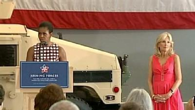 First Lady Michelle Obama And Dr Jill Biden Visit NH