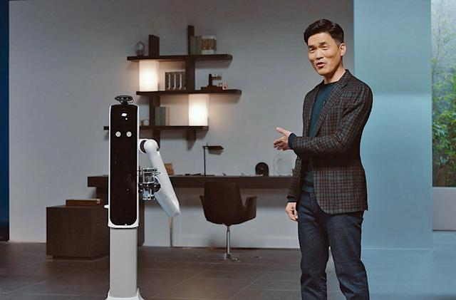 Samsung's latest home robots can do chores and nag you to stop working