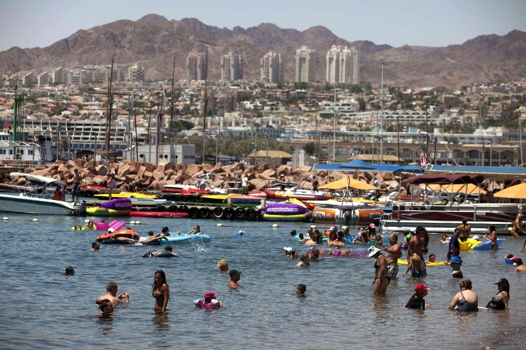 View of the Israeli Red Sea resort of Eilat in 2011 (AFP Photo/MENAHEM KAHANA)