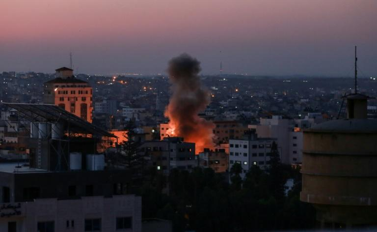 Israel's military killed a commander for Palestinian militant group Islamic Jihad and his wife in the Gaza Strip (AFP Photo/BASHAR TALEB)