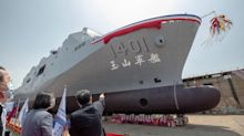 Taiwan launches new amphibious vessel with anti-ship missiles