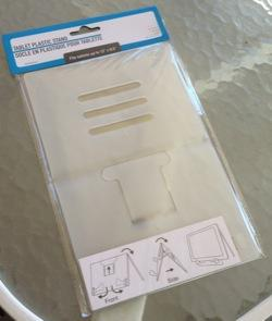 Dollar Store Accessories: Flat-folding tablet stand is perfect for iPads