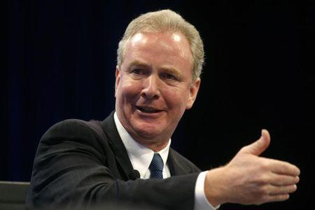 Chris Van Hollen speaks at the Wall Street Journal's CEO Council meeting in Washington