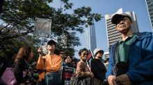 Hong Kong cops jailed for beating protester released on bail