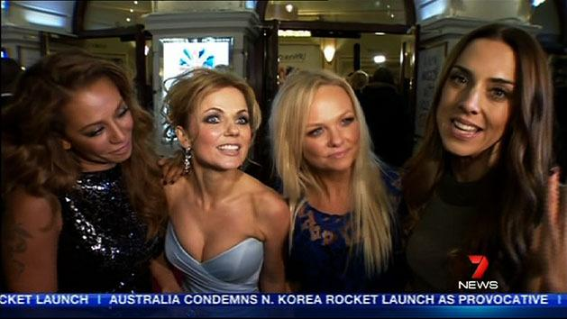 Spice Girls reunite for premiere