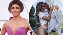 Halle Berry flaunts pins in bikini for kiss with boyfriend Van Hunt