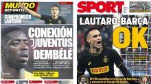 La posible cesión de Dembélé a la Juventus y el acuerdo entre FC Barcelona y Lautaro, en portada