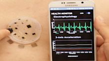 Stick-on patch monitors vitals, wirelessly transmits data to smartphone