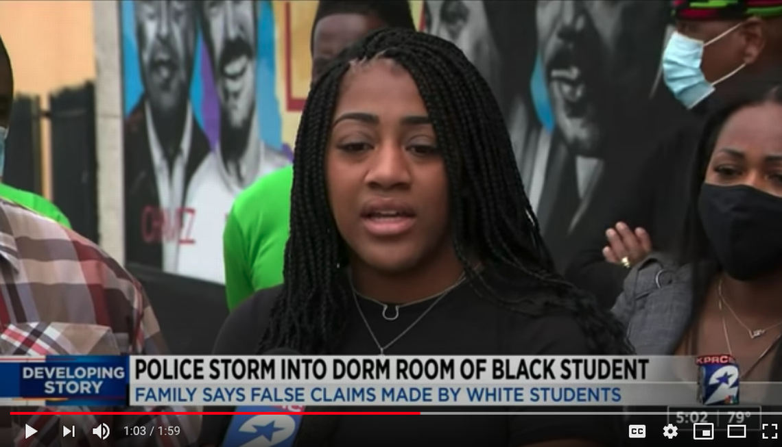 College student wakes to armed police raiding dorm in false report, Texas family says