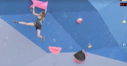 Escalade - CdM - Vidéo : le gros jeté de Janja Garnbret en demi-finale à Chongqing