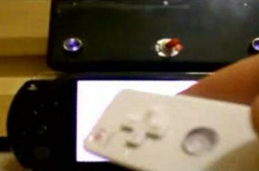 Kid takes PSP and makes it play Wii