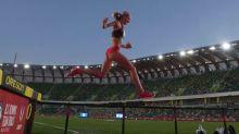 Athletics-Coburn dominates steeplechase, Felix advances in 200m at US trials