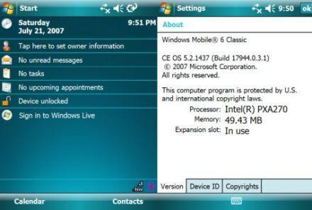 Windows Mobile 6 unofficially meets Dell's Axim X51v