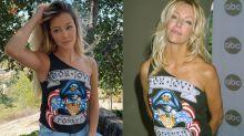 Ava Sambora looks like mom Heather Locklear's twin in borrowed vintage Bon Jovi concert tee