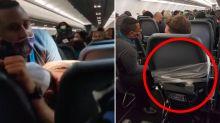 Drastic measure to restrain unruly passenger during flight