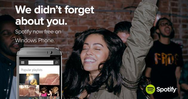 Spotify is now free for Windows Phone