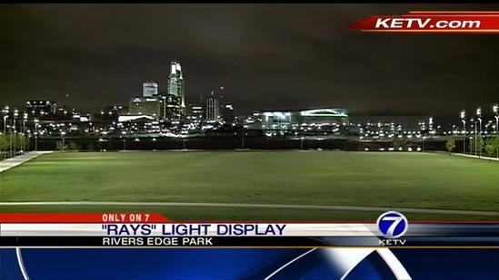 River's Edge Park lights up night sky