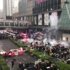 Hong Kong Police Deploy Water Cannons, Tear Gas as Protesters Throw Bricks and Gasoline Bombs