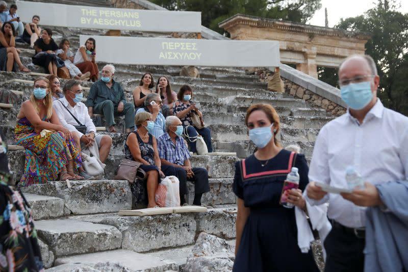FILE PHOTO: Ancient Greek drama performed amid the coronavirus disease (COVID-19) outbreak in Epidaurus